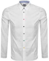 Paul Smith Ps By Tailored Long Sleeved Shirt - White