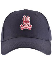 e714468406a Psycho Bunny - Classic Stonewash Baseball Cap Navy - Lyst