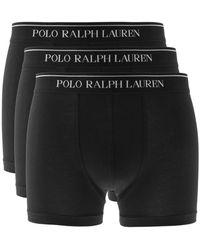 Ralph Lauren Underwear 3 Pack Boxer Shorts - Black