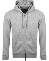 Armani Emporio Full Zip Hoodie - Gray