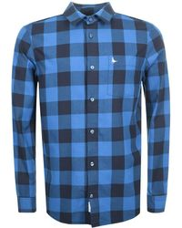 Jack Wills - Salcombe Long Sleeved Check Shirt Blue - Lyst