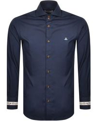Vivienne Westwood Long Sleeved Shirt - Blue