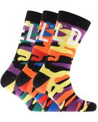 DIESEL Hermine Three Pack Socks - Black