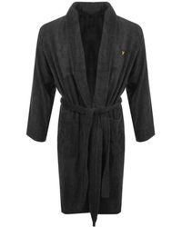Lyle & Scott Hamish Dressing Gown Grey