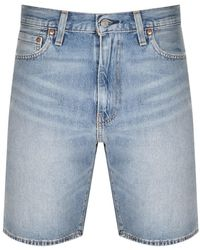 Levi's Loose Fit 469 Denim Shorts - Blue