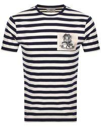 Kent & Curwen Shaw Breton T Shirt - Blue