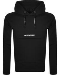 Armani Emporio Pullover Hoodie - Black