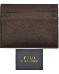 Ralph Lauren Leather Card Holder - Brown