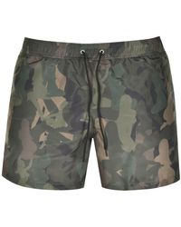 Paul Smith Ps By Lady Camouflage Swim Shorts - Green