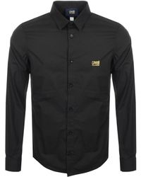 Just Cavalli - Cavalli Class Long Sleeved Shirt Black - Lyst