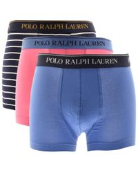 Ralph Lauren - Underwear 3 Pack Trunks Blue - Lyst