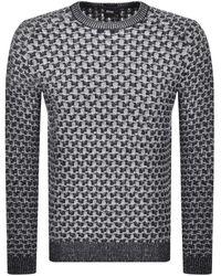 BOSS by Hugo Boss Akalbe Knit Sweater - Blue