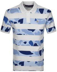BBCICECREAM Camo Stripe Polo - Blue