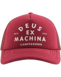 Deus Ex Machina Camperdown Logo Trucker Cap - Red