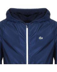Lacoste Sport Full Zip Hooded Jacket Navy - Blue
