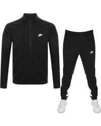 Nike Standard Fit Fleece Tracksuit - Black
