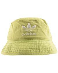 adidas Originals Bucket Hat White in White for Men - Lyst 4d9bcd4b7e6c