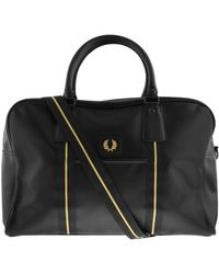 Fred Perry Pique Texture Holdall Bag - Black