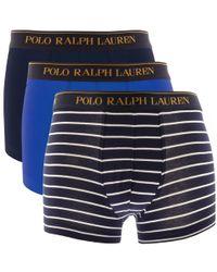 Ralph Lauren - Underwear 3 Pack Trunks Navy - Lyst