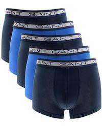 Gant 3-Pack Stripe Men/'s Boxer Trunks Gift Set Navy//orange