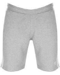 adidas - Originals Three Stripe Shorts Grey - Lyst