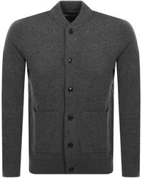 Barbour Witton Button Through Knit Jumper - Gray