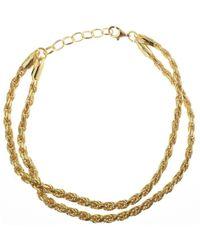 Serge Denimes Rope Bracelet - Metallic