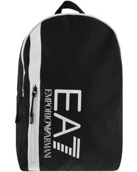 EA7 Emporio Armani Logo Backpack - Black