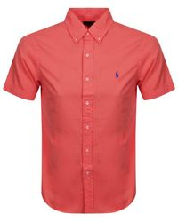 Ralph Lauren Short Sleeved Slim Fit Shirt - Red