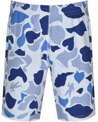BBCICECREAM Camo Jersey Shorts - Blue