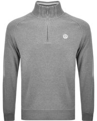 Henri Lloyd - Rednor Half Zip Sweatshirt Grey - Lyst