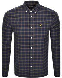 Lyle & Scott Check Long Sleeve Shirt - Blue