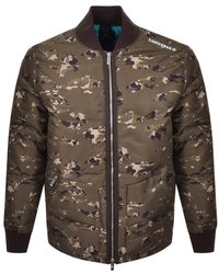 Converse Star Full Zip Down Jacket Olive - Multicolour