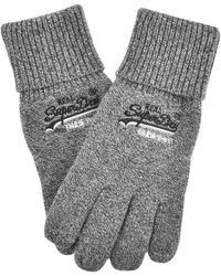 Superdry Orange Label Basic Gloves - Gray