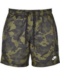 Nike Flow Camo Logo Swim Shorts - Green