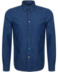 Paul Smith - Ps By Long Sleeved Denim Shirt Blue - Lyst