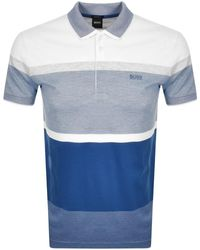 BOSS Athleisure Paddy 4 Polo T Shirt - Blue