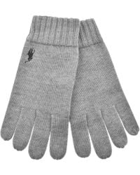 Ralph Lauren - Wool Gloves Grey - Lyst
