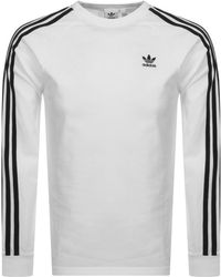ab2e6ae56 adidas Originals Id96 Long Sleeve T-shirt in White for Men - Lyst
