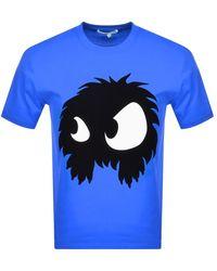 McQ Logo T Shirt - Blue