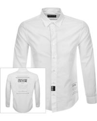 Versace Jeans Couture Long Sleeved Shirt White