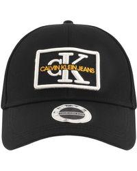 Calvin Klein Jeans Monogram Logo Cap - Black