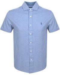 Ralph Lauren - Custom Slim Fit Polo T Shirt Blue - Lyst