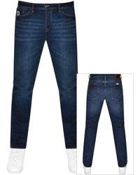 Pretty Green Erwood Slim Fit Jeans - Blue