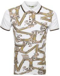 de6b0ff0 Versace Jeans - Short Sleeved Polo T Shirt White - Lyst