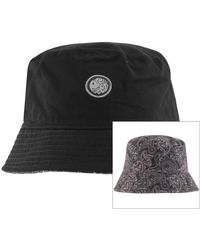 Pretty Green Reversible Paisley Bucket Hat - Black