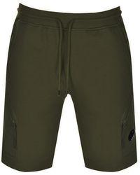 C P Company Cp Company Goggle Sweat Shorts - Green