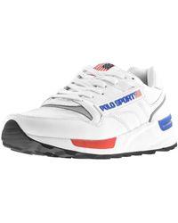 Ralph Lauren Sport Track Star Sneakers - White