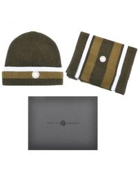 Pretty Green Pretty Beanie Hat And Scarf Gift Set - Green