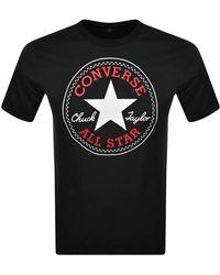 Converse Chuck Taylor Logo T Shirt - Black